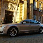 Silver Audi hire car