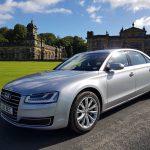 Silver Audi car hire