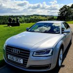Silver Audi car | Executive car hire