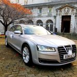 Silver Audi wedding car